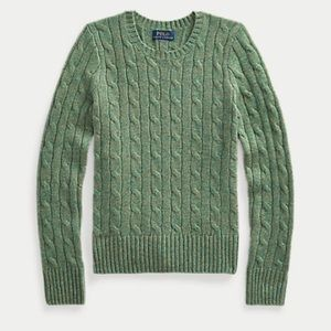 Polo Ralph Lauren Cable Knit Sweater Forest Green